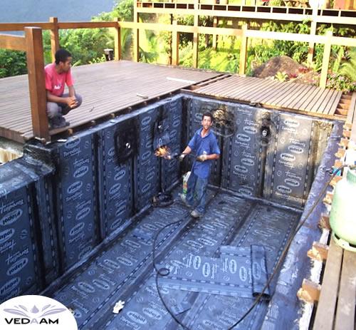 Impermeabilização e piscina com deck