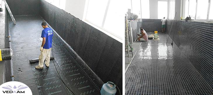 Impermeabilização de piscina de azulejo interna